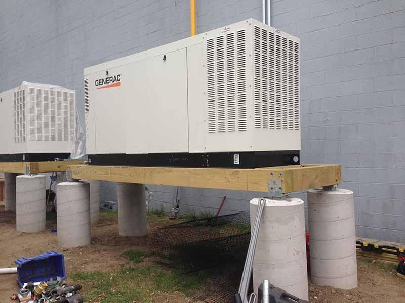 generac generator installation. photo of generac generator in new jersey corbin electrical services installation