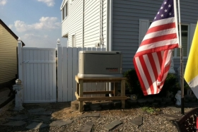 Picture Of Residential Generator Installed In New Jersey - Corbin Electrical Services