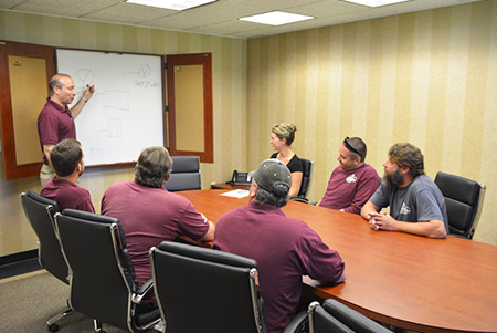Picture Of Employee Training At New Jersey Residential Generator Company - Corbin Electrical Services