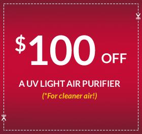 $100 off a UV light air purifier