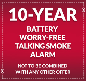 10-Year Battery Worry-Free Talking Smoke Alarm