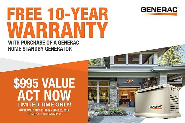 Free 10 year warranty!