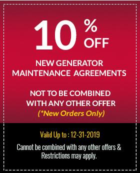 10% Off New Generator Maintenance Agreements