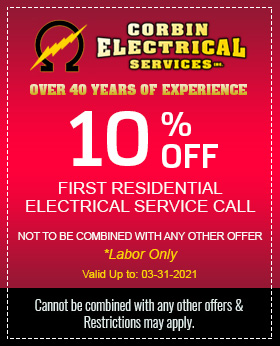 10% Off Your First Residential electrical Service Call!