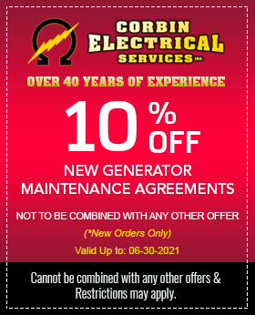 10% Off New Generator Maintenance Agreements